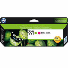 Genuino HP Packard Officejet ALTA CAPACIDAD hp971xl magenta cartucho de tinta