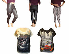 New Cotton Leggings Stretchy Full Ankle Length Woman Lady T Shirt Novelty lot