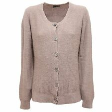2226R maglione FRED PERRY beige cardigan donna lana sweater woman
