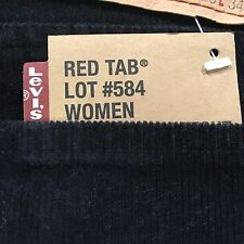 Jeans Donna Levi's 584 Bootcut Comfort Red Tab zampa nero velluto a coste