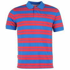 Slazenger Pique Yarn Dye Polo Shirt Mens Blue Top T-Shirt Tee