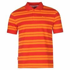 Slazenger Pique Yarn Dye Polo Shirt Mens Red Top T-Shirt Tee