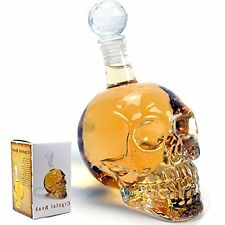 Crystal Decanter, In Shape of Skull Head 1000 / 550 ml, Pack of 1, Transparent