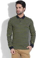 United Colors of Benetton Striped Mens Polo Neck T-Shirt (Flat 60% OFF) -9KR