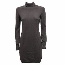 2750R vestito donna SUN 68 BLENDED CASHMERE grigio melange dress woman