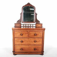 Antique Victorian Dressing Chest of Drawers Dressing Table Mahogany 19th Century