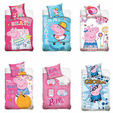 Peppa Pig Biancheria Letto Bambini Lenzuola Salvadanaio Peppa George Pig