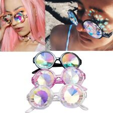Fashion Retro Round Kaleidoscope Sunglasses Men Women Designer Eyewear lens Glas