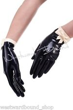R1516 Delicious Rubber Latex Unisex BLACK/RED Fetish Mistress GLOVES