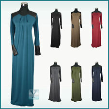 ✿ Lycra Abaya ✿Jilbab leather Islamic wear Hijab Kaftan Caftan Maxi Dress jersey