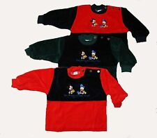 Samt Pullover Gr.56-86 Pulli Baby Mickey Mouse Donald Duck Sweatshirt Disney