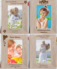 PERSONALISED Oak PHOTO Frame Gift Ideas For Mum On Mothers Day BIRTHDAY Easter