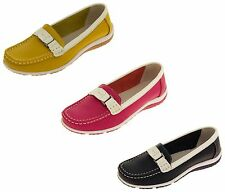 Ladies Coolers Suede Leather Summer Shoes Womens Casual Loafers Size 4 5 6 7 8