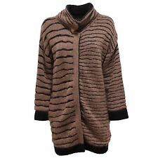 4016R maglione CYCLE cardigan marrone/nero sweater woman