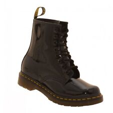 Dr. Martens Womens 8 Eye Patent Lamper Boots (Black)