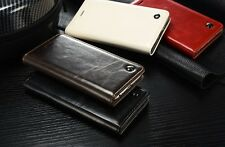 """Retro PU Genuine Leather Magnetic Flip Cover Case For Apple iPhone 6/6s"""""""