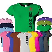 GYM CROSSFIT New Womens T-Shirt Functional Training Sport Workout Top Tshirt
