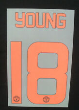 """""""YOUNG 18"""" Manchester United MUFC Euro 3rd Junior Name & Number Set 15/16 Print"""