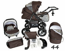 Pushchair + 3in1 + Car Seat + baby pram + stroller + Buggy Travel System