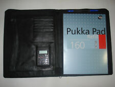 REAL LEATHER a4 folder Document folder a4 Document wallet Zipped FREE PUKKA PAD