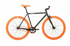 FabricBike-Bicicletta fixie nera y arancione,pignone fisso,,Fixed Gear,,Single