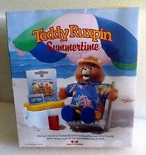 NISP 1987 WORLDS OF WONDER TEDDY RUXPIN SUMMERTIME TAPE BOOK & BEACH OUTFIT NEW