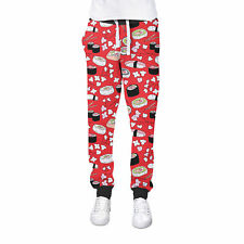 Sushi Cherry Blossom Cuffed Joggers Womens Sweatpants Jogging Bottoms