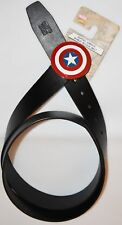MENS Captain American BELT Shield MARVEL Red White Blue Black Sizes S - XXXL NEW