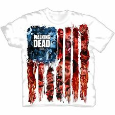 "The Walking Dead - Herren TV Serien T-Shirt ""American Gore"" Weiß"