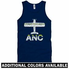 Fly Anchorage ANC Airport Unisex Tank Top - Alaska Airlines - Men / Women - S-2X