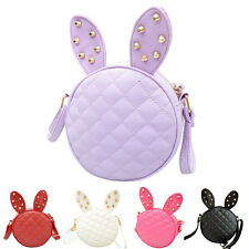 Leather Girls Rabbit Ear Handbag Tote Shoulder Messenger Bag 5 Colours UK Stock