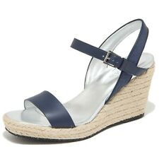 9842M sandalo zeppa HOGAN scarpe donna sandals shoes woman blu
