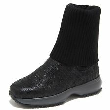 8506M HOGAN JUNIOR INTERACTIVE scarpe bimba stivale boots shoes kids nero