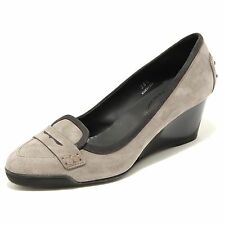 25534 decollete grigio zeppa TODS scarpa donna shoes women
