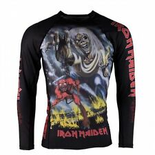 TATAMI X IRON MAIDEN NUMBER OF THE BEAST RASH GUARD Jiu Jitsu BJJ MMA - Adults