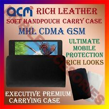 ACM-RICH LEATHER SOFT CASE for MHL CDMA GSM MOBILE HANDPOUCH COVER HOLDER LATEST