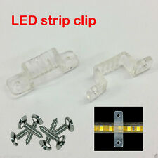 10mm & 12mm Thick Flexible Fixing Clip For 3528/5050 LED Light Strip +/- Screws