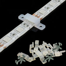 10mm & 12mm Flexible Fixing Clip For 3528/5050 LED Light Strip +/- Tapping Screw