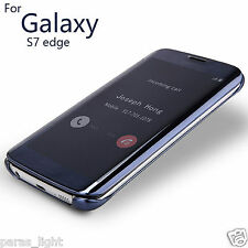 For Samsung Galaxy S7 Edge Clear View Flip Cover