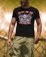 New Black Men MMA Cage Fighter Bodybuilding Gym T-Shirt Workout Training