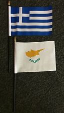 Cypriot Hand Table Flag Greek Christian Cyprus Crusader Tourism/Tourists Med bn