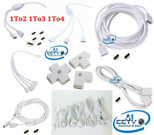 1 to 2/3/4-Way RGB LED Light Strip Female Splitter 0.32-5M Extension Cable 4-Pin