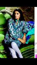 PAKISTANI DESIGNER STITCHED SUIT COTTON SHALWAR KAMEEZ SANA SAFINAZ SMALL UK8/10