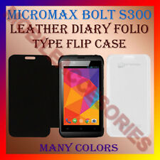ACM-LEATHER DIARY FOLIO FLIP CASE of MICROMAX BOLT S300 MOBILE FRONT BACK COVER