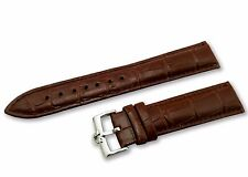 18mm 19mm 20mm Genuine Leather Strap/Band for Omega Watch Brown Silver Buckle