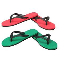 Hawalker wonder Red and wonder Green Combo Rubber Flip Flops