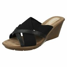 Donna Savannah Nero, slip-on zeppa sabot NUMERI UK 3 - 8 f10744