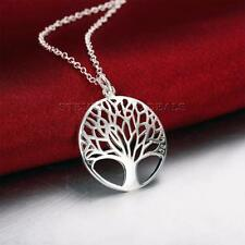 TREE OF LIFE Pendant Necklace Vintage Style Silver Plated Chain Fashion Jeweller