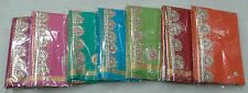 Women's Ethnic Wear Kota Doria Cotton Plain Hand Made Gota Work Saree ( Blouse )