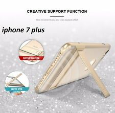 Luxury Hybrid Hard PC Frame + Clear TPU kickstand Back Cover For iPhone 7 Plus